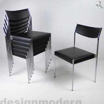 12 chairs dietiker edlef bandixen chair 60er modernist ebay. Black Bedroom Furniture Sets. Home Design Ideas