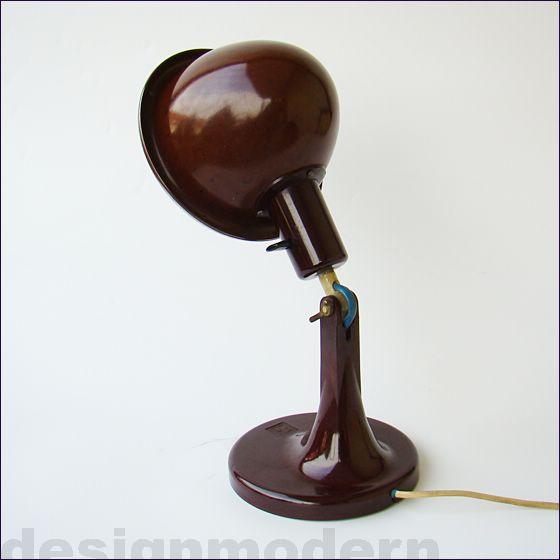 Rare art deco bakelite lamp lampe ddr eames era emtv for Eames lampe