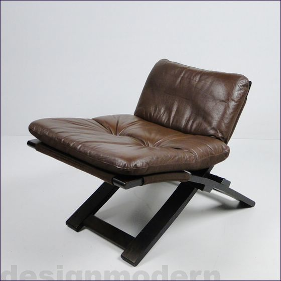 leder lounge chair sessel ottomane kroken von nelo stressless sweden teak top ebay. Black Bedroom Furniture Sets. Home Design Ideas